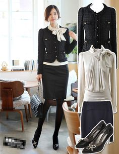 Skirt outfits for work which looks give you a polished, professional look? Professional Wardrobe, Professional Look, Work Wardrobe, Office Fashion, Work Fashion, Fashion Outfits, Womens Fashion, Sport Chic, Tweed