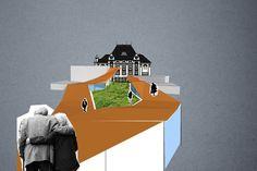 collage prague 10 town hall