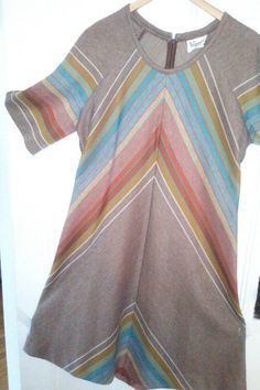 SALE  Chevron Sunset Knit Dress / Women's by JulesCristenVintage