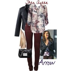 Thea Queen- Arrow by birdofparadise25 on Polyvore featuring Wallis, Chicwish, Le Temps Des Cerises, Jimmy Choo and MICHAEL Michael Kors