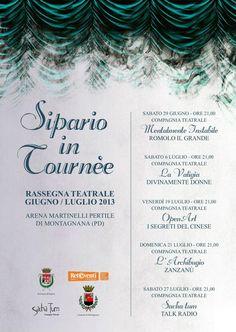 Sipario in Tournee - rassegna organizzata dalla COmpagnia teatrale SachaTum di Montagnana
