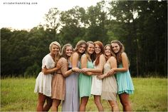 Love this pose for a group!  Girls. Altogether Lovely. » Elizabeth Ann