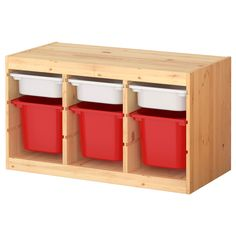 TROFAST Storage combination with boxes - IKEA. Got this last week - so great for the entryway where kids can sit, take off their shoes, and store them in the bins along with their bookbags etc.
