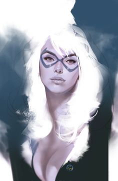 Black Cat (Felicia Hardy) by Ben Oliver Comic Book Artists, Comic Book Characters, Marvel Characters, Comic Character, Comic Books Art, Female Characters, Comic Art, Female Villains, Character Design
