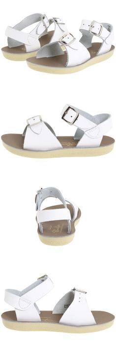 Girls Shoes 57974: New Little Kids Youth Salt Water Sandal Surfer White 1703 Sun-San By Hoy Shoes -> BUY IT NOW ONLY: $44.99 on eBay!