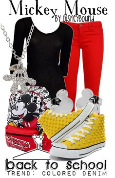 """Mickey Mouse"" by lalakay ❤ liked on Polyvore"