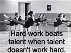 Hard work beats talent when talent doesn't work hard. #truth