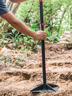 aussentreppe holz kies einfache gartentreppe gartenstufen selber machen anleitung tipps garden. Black Bedroom Furniture Sets. Home Design Ideas