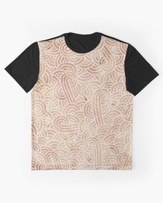"""""""Iced coffee and white zentangles"""" Graphic T-Shirt by Savousepate on Redbubble #tshirt #teeshirt #clothing #abstract #zentangles #doodles #scrolls #spirals #brown #chocolate #icedcoffee #pantonecolors2016"""