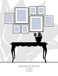 Picture Frame Arrangement.