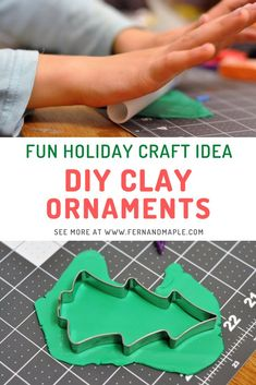 This is a fun and easy way to create your own Christmas ornaments using oven-bake clay! Perfect for kids and adults alike - and a great idea for a holiday party activity! Find the instructions now at fernandmaple.com.