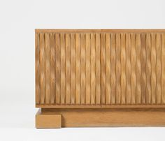 Belgium Brutalist Credenza with Solid Oak Graphic Panels | From a unique collection of antique and modern sideboards at http://www.1stdibs.com/furniture/storage-case-pieces/sideboards/