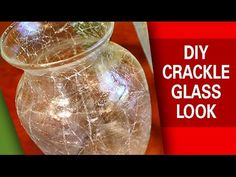 DIY - Crackle Glass Look