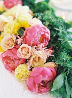 Bright blooms: http://www.stylemepretty.com/2015/10/05/colorful-morais-vineyard-wedding-in-virginia/ | Photography: Joey Kennedy Photography - http://www.joeykennedyphotography.com/