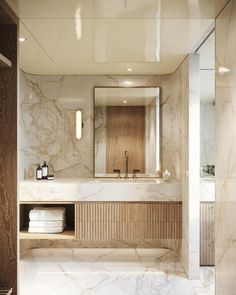 marble, concrete, white, black and natural textures. Floating vanity and double sink master bathroom bathroom layout. Contemporary Bathrooms, Modern Bathroom, Small Bathroom, Minimal Bathroom, Bathroom Layout, Bathroom Interior Design, Tadelakt, Toilet Design, Beautiful Bathrooms