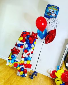 Sonic Birthday, Unicorn Birthday Parties, Birthday Fun, Balloon Box, 5 Balloons, Paw Patrol Birthday Theme, Paw Patrol Party, Birthday Balloon Decorations, Birthday Balloons