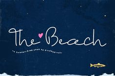 The Beach Font is a new monoline #font features a lovely free style that looks always pretty for either formal and informal projects. Great for frames, #quotes, #invitations... everything :)