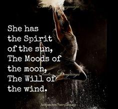 She has the Spirit o love positive words