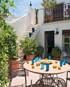 What a beautiful country villa terrace - perfect for some alfresco dining!