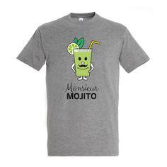 T-shirt pour les fans de Mojitos, existe aussi en version femme