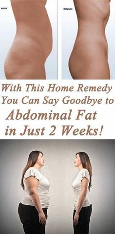 You Can Say Goodbye To The Abdominal Fat In Just 2 Weeks With This Homemade Remedy