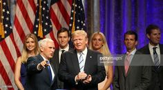 Donald Trump introduces Indiana Gov. Mike Pence as Vice Presidential running mate at a press conference at the Hilton Hotel on July 16, 2016 in New York City.