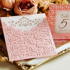 Roses Lase Wedding Luxery Envelope Card Template by EasyCutPrintPD Luxury Wedding, Lace Wedding, Wedding Day, Trendy Wedding, Diy Wedding, Wedding Venues, Paper Cards, Diy Paper, Wedding Invitation Cards