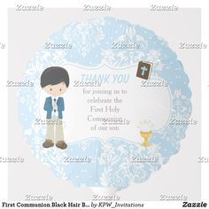 Shop First Communion Brunette Hair Boy Thank You Balloon created by KPW_Invitations. Blonde Hair Boy, Black Hair Boy, Brunette Hair, Photo Balloons, First Communion Invitations, Balloon Shapes, Custom Balloons, First Holy Communion, Invitation Design