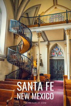 The best itinerary if you are planning one day in Santa Fe for sightseeing. This plan includes best places to stay in Santa Fe, where to eat and shop, plus things to do and tips for visiting Santa Fe Plaza, Loretto Chapel, St. Francis Cathedral, Railyard District, Museum Hill, and more. #usa #travel #vacations #thingstodo #attractions Backpacking Europe, Europe Travel Tips, Travel Usa, Europe Packing, Traveling Europe, Packing Lists, Travel Deals, Travel Hacks, Travel Packing