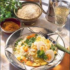 Eier-Ragout auf indische Art Rezept | LECKER Frittata, Polenta, Risotto, Potato Salad, Curry, Rice, Potatoes, Eggs, Pasta