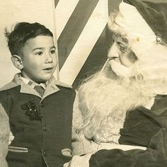 A young Jerry Garcia with Santa Claus