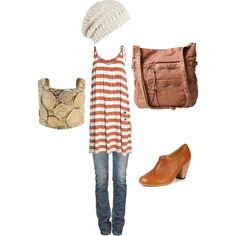 Spring Stripes, created by anthera on Polyvore, everything but the shoes!