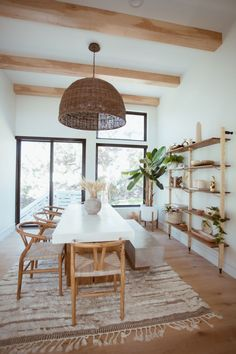 How to get Cara Loren's Bohemian Dining Room Escape - Expolore the best and the special ideas about Dining room design Dining Room Table Decor, Dining Room Design, Living Room Decor, Ikea Dining Room, Shelves In Dining Room, Modern Dining Rooms, Modern Living, Coffee Tables, Warm Dining Room