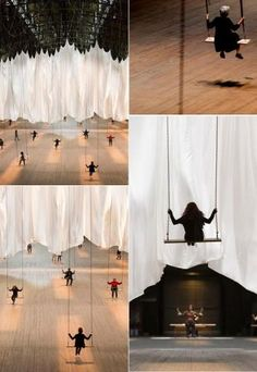 Ann Hamilton's installation of 42 swings at the Park Avenue Armory - anyone can swing until January 6, 2013