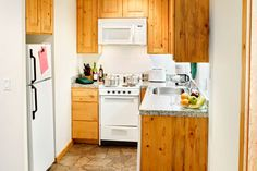 Full Kitchen of One Bedroom Unit at Red Wolf Lodge at Squaw Valley