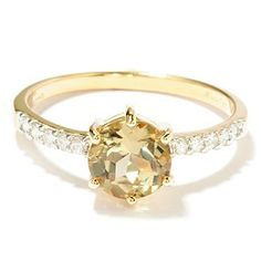 Gem Insider 14K 1.46ctw Solitaire Zultanite Ring w/Diamond Shank