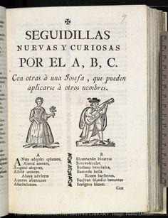 Seguidillas nuevas y curiosas por el A, B, C : con otras à una Josefa, que pueden aplicarse à otros nombres.
