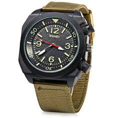 Hoy con el 17% de descuento. Llévalo por solo $20,300.Weesky informal estilo de los hombres reloj de cuarzo con Big decorativo Corona.