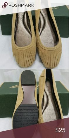 NIB Eddie Bauer Suede Fringe Flats Aren't these adorable?!? New in Box. They are so on trend right now with the fringe. Leather Eddie Bauer Shoes Flats & Loafers