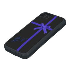 Ribbons and Bow iPhone 5 Tough Case Customize background color and text or add a photo to make it your own.
