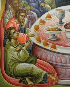 Byzantine Icons, Last Supper, Religious Icons, Holi, Style Icons, Presents, Painting, Art, Drawings