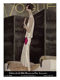 Vogue Cover - November 1928 Poster Print by William Bolin at the Condé Nast Collection