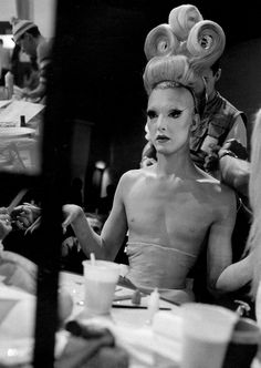 French fashion designer Thierry Mugler / make-up artist KABUKI STARSHINE