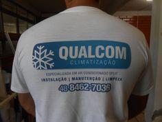 Camiseta com logomarca em sublimação
