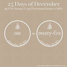 A Vegas Girl at Heart: Freebie Friday: 25 Days of December Brushes