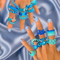 Nail Jewelry, Funky Jewelry, Cute Jewelry, Fimo Ring, Polymer Clay Ring, Diy Clay Rings, Crea Fimo, Estilo Indie, Cute Clay