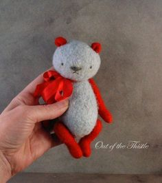Artist Vintage Style Small Crochet Felted Fiber Thread Bears Retro Panda   eBay