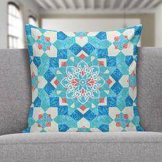 Capa para almofada Blue Gyrosigma pattern 45x45 - PRINCE ST