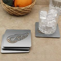 Detroit Red Wings 4-Pack Boasters Stainless Steel Coasters