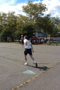 Had a terrific time playing in the Stickball Classic on Staten Island.